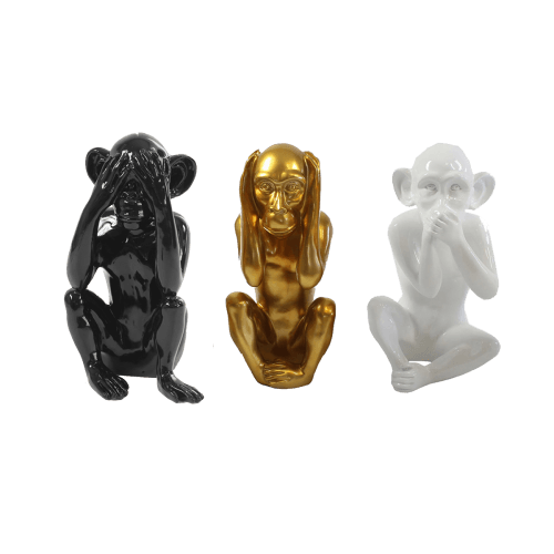 Three wise monkeys design Artypopart