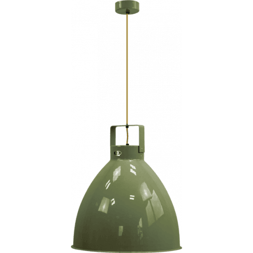 IN STOCK ! Jieldé Augustin A540 Pendant lamp Olive Green RAL6003 SHINY / Interior : SILVER