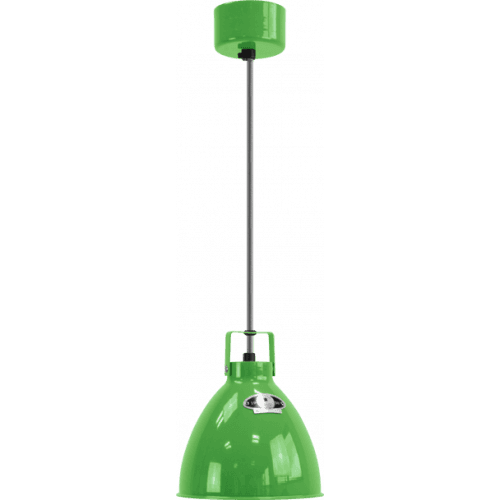 IN STOCK ! Jieldé Augustin A160 Pendant lamp Apple Green RAL6018 SHINY/ Interior : SILVER