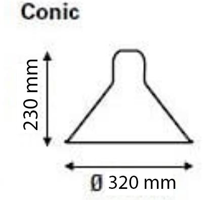 réflécteur cone 230/320